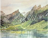 Theresia-Zuellig-Landscapes-Mountains-Nature-Water-Modern-Age-Naturalism