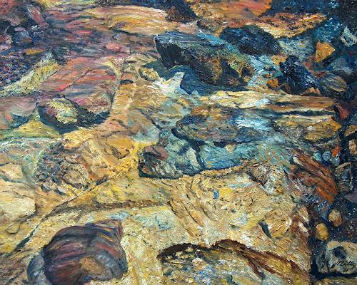 Theresia Züllig, Mineralsteine Elba, Nature: Rock, Miscellaneous Landscapes, Naturalism, Expressionism