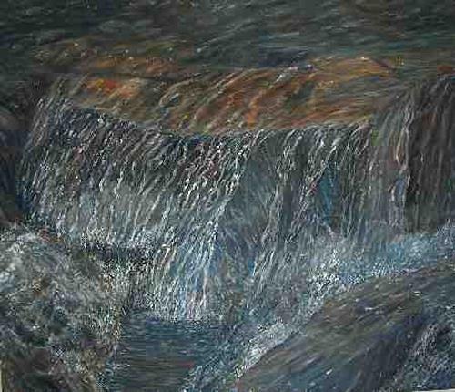 Theresia Züllig, Bergbach, Movement, Nature: Water, Naturalism