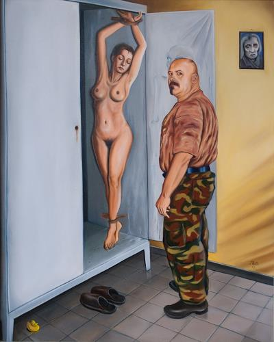 ingo platte, pin-up II, The world of work, Erotic motifs: Female nudes, Realism