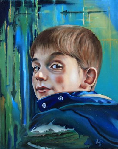 ingo platte, Blick zurück, People: Children, Situations, Realism, Expressionism