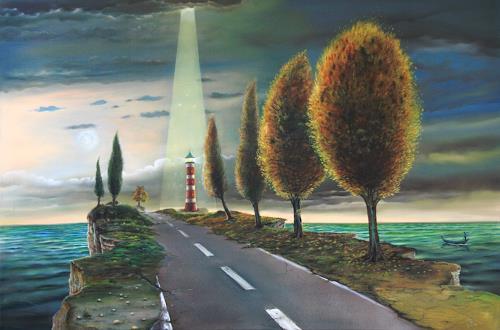 ingo platte, Aufbruch, Miscellaneous Landscapes, Death/Illness, Symbolism, Expressionism