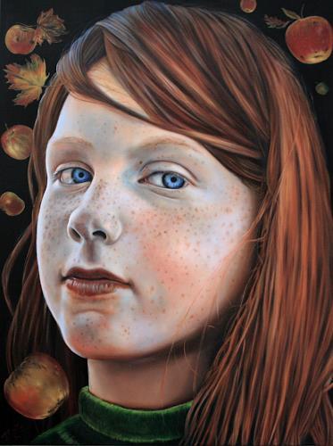 ingo platte, Apfelzeit, Harvest, People: Portraits, Realism, Expressionism