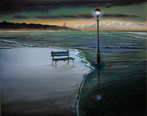 ingo platte, Daemmerung, Landscapes: Beaches, Belief, Realism