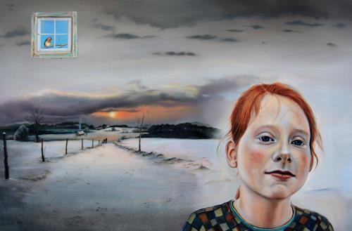 ingo platte, Winterzeit, Landscapes: Winter, People: Portraits, Realism, Expressionism
