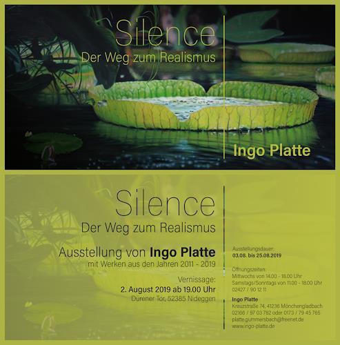 ingo platte, Plakat zur Ausstellung, Landscapes: Tropics, Miscellaneous Plants, Hyperrealism