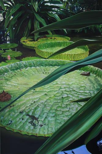 ingo platte, Komposition in Grün, Landscapes: Tropics, Miscellaneous Plants, Hyperrealism, Expressionism