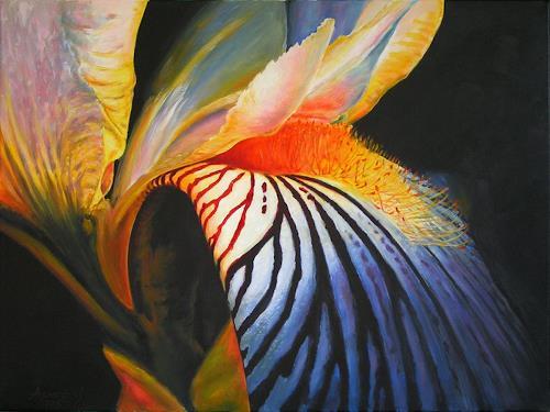 Stanislaw Achrem, Iris 2, Plants: Flowers, Expressionism