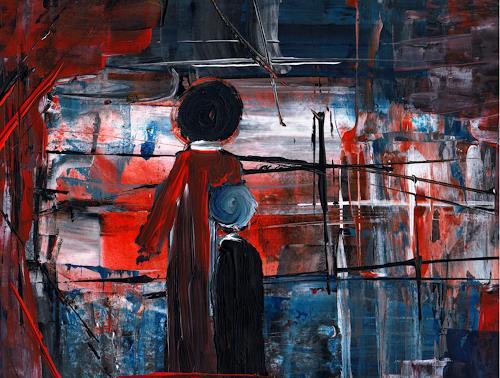 katarina niksic, Lebensbaustelle, People: Families, Abstract Art