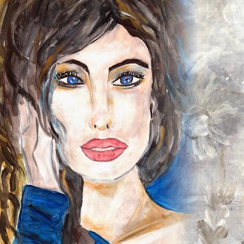 katarina niksic, Die Träumerin, People: Women, Concrete Art