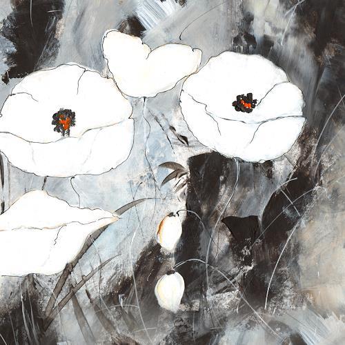 katarina niksic, White Poppy, Miscellaneous, Romanticism, Expressionism