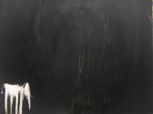 Conny Niehoff, Kleiner Elefant kann nicht schlafen, Abstract art, Animals, Abstract Expressionism
