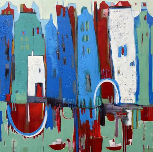 Conny Niehoff, Mein Atelier in Amsterdam, Abstract art, Abstract Art, Abstract Expressionism