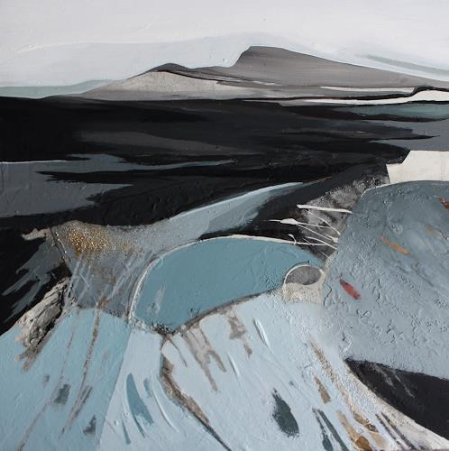 Conny Niehoff, Island 4, 70/70 cm, Landscapes: Mountains, Abstract Art, Abstract Expressionism