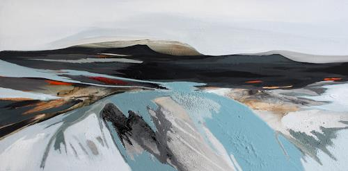 Conny Niehoff, Island 5, 50/100 cm, Landscapes: Mountains, Abstract Art, Expressionism
