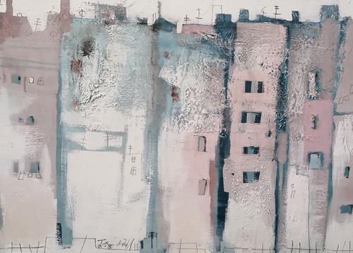 Conny Niehoff, STADT, Abstract art, Abstract Art, Expressionism