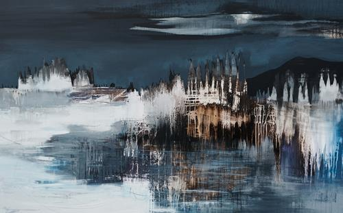 Conny Niehoff, Winternacht, Abstract art, Abstract Art, Expressionism