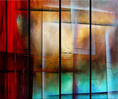 Paul Sinus, traffic 1, Abstract art, Action Painting, Expressionism