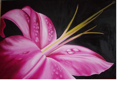 Silvia Jelitto, Lily, Plants: Flowers, Plants: Flowers, Contemporary Art, Expressionism