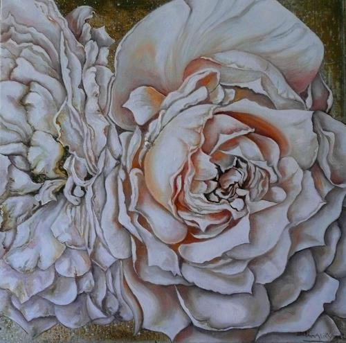 Anne Waldvogel, Lions Rose, Plants: Flowers, Photo-Realism, Expressionism