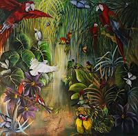 Anne-Waldvogel-Landscapes-Tropics-Animals-Air-Contemporary-Art-Contemporary-Art