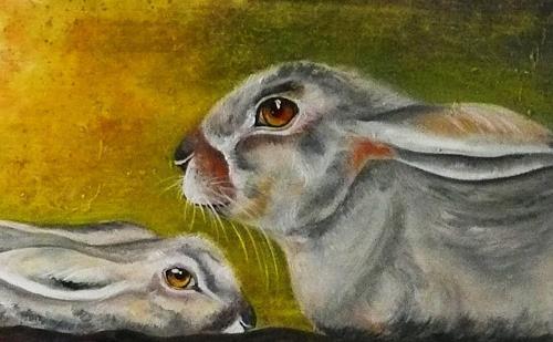 Anne Waldvogel, Häschen in der Grube, Animals: Land, Fairy tales, Contemporary Art