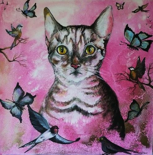 Anne Waldvogel, Angel träumt vom Frühling, Animals: Land, Contemporary Art