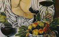 A. Waldvogel, Bacchus nach Caravaggio - Detail