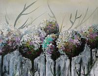 Anne-Waldvogel-Abstract-art-Plants-Flowers-Modern-Age-Expressive-Realism