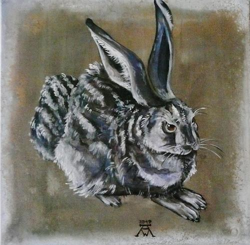 Anne Waldvogel, Der Blaue Hase, Animals: Land, Humor, Contemporary Art