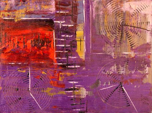 Brigitte Kölli, Weltzeit, Abstract art, Times: Today, Abstract Art