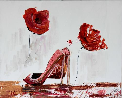 Brigitte Kölli, Put your red shoes on, Fashion, Still life, Concrete Art, Expressionism