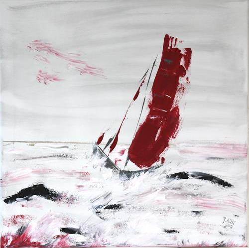 Brigitte Kölli, Sinking ship, Landscapes: Sea/Ocean, Nature: Water, Concrete Art, Abstract Expressionism