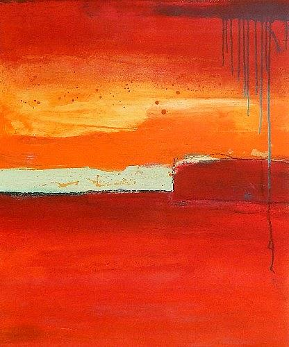 Conny Wachsmann, Rotes Bild Ernte 5, Abstract art, Harvest, Abstract Art
