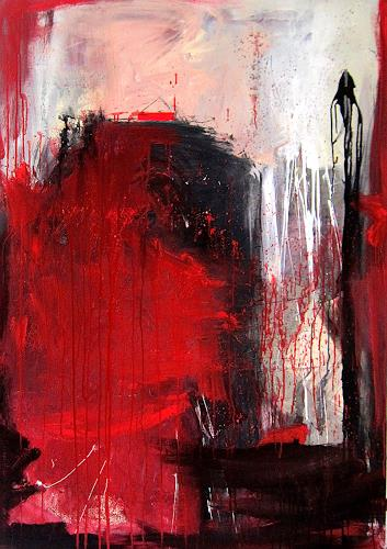 Conny Wachsmann, rotes Bild, Abstract art, Miscellaneous Emotions, Modern Age