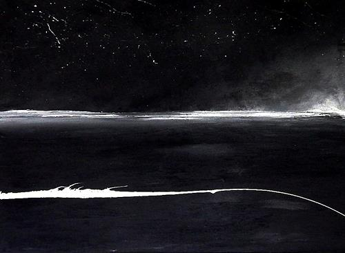Conny Wachsmann, schwarz weiß Bild - Sternentanz, Movement, Landscapes, Abstract Art, Abstract Expressionism