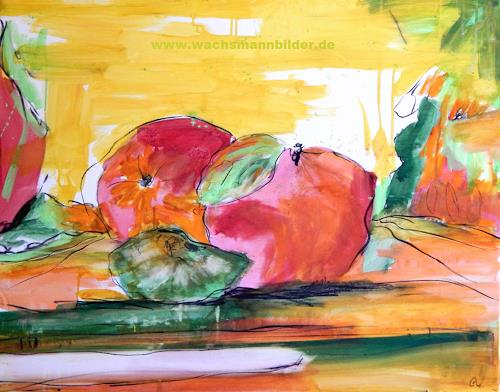 Conny Wachsmann, Abstrakte Äpfel, Landscapes, Plants: Fruits, Abstract Art