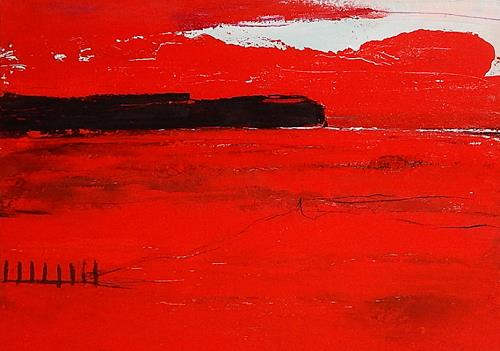 Conny Wachsmann, Rotes Bild - nicht allein, Miscellaneous, Abstract art, Abstract Art, Abstract Expressionism