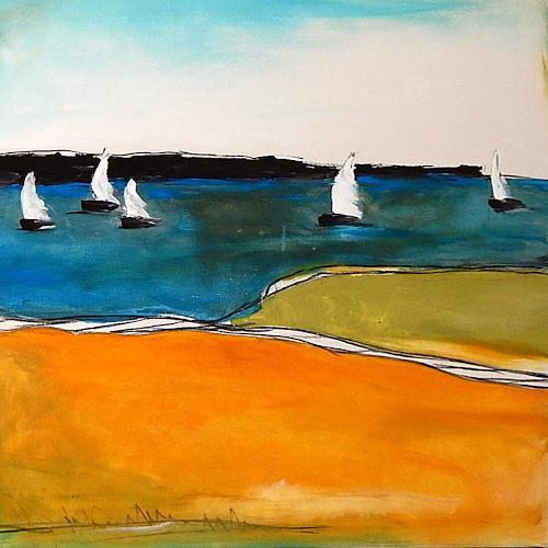 Conny Wachsmann, Knotenpunkt - Bild mit Segelschiffen, Society, Landscapes: Plains, Modern Age