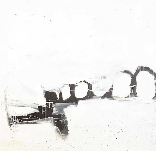 Conny Wachsmann, weisses schwarzes Bild, Decorative Art, Abstract art, Neue Wilde