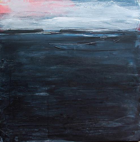 Conny Wachsmann, Blaues Bild - Tagesablauf Nummer 3, Miscellaneous Animals, Abstract art, Abstract Art, Expressionism