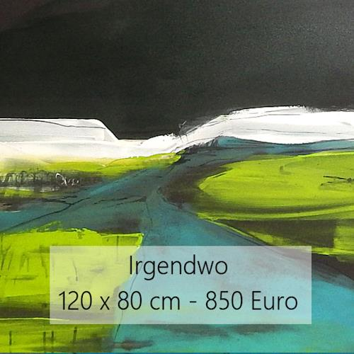 Conny Wachsmann, Irgendwo, Miscellaneous Landscapes, Abstract art, Abstract Art
