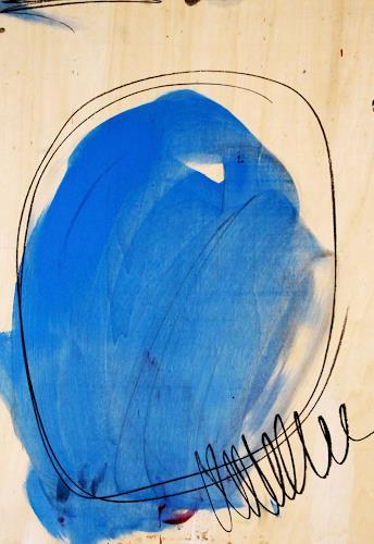 Conny Wachsmann, Pilgerreise 3 - blau, Abstract art, Abstract Art