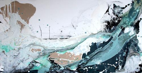 Conny Wachsmann, Surfende Gedanken, Landscapes: Sea/Ocean, Abstract art, Modern Age, Expressionism