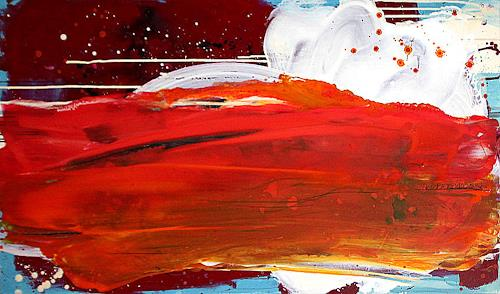 Conny Wachsmann, Bild in Orange Rot, Landscapes: Plains, Abstract art, Abstract Art, Abstract Expressionism