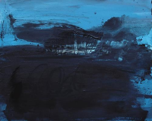 Conny Wachsmann, blaues Bild - Ich muss auch mal alleine sein, Abstract art, Abstract Art