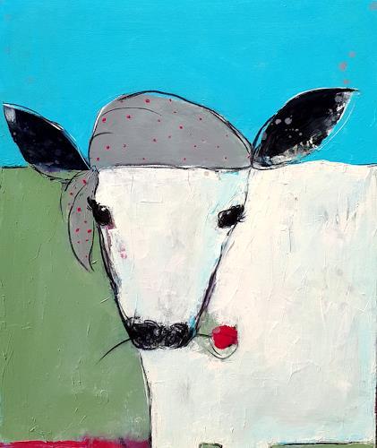 Conny Wachsmann, Kuh Stier gemalt, Miscellaneous Animals, Animals: Land, Abstract Art