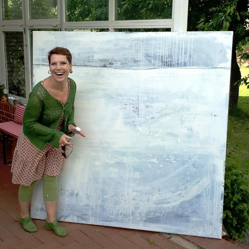 Conny Wachsmann, große weisse Bidler, Landscapes: Sea/Ocean, Abstract art, Action Painting
