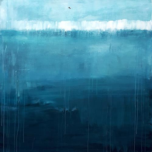 Conny Wachsmann, blaue große Bilder 170 x 170 cm, Landscapes: Sea/Ocean, Miscellaneous Landscapes, Abstract Art