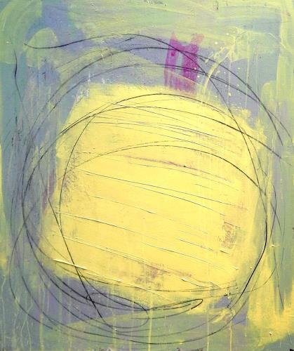 Conny Wachsmann, gelbes Bild - Veränderung, Abstract art, Abstract art, Action Painting, Expressionism
